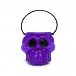 Cabeça de esqueleto kids roxa - Artigos de halloween