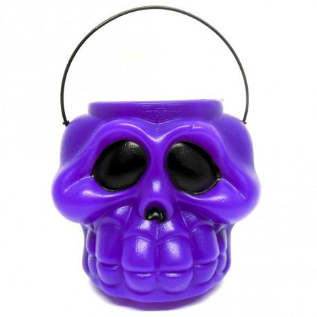 Caldeirão cabeça de esqueleto roxo - Artigos de halloween