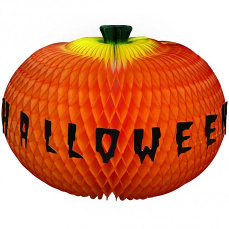 Abóbora happy halloween 42cm - Colmeia de papel