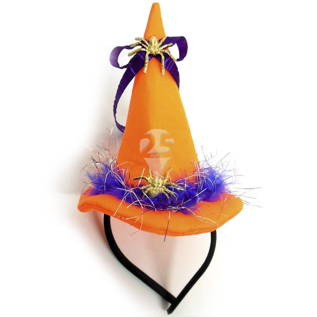 Arquinho com chapéu de bruxa decorado - Artigos de halloween. Loading zoom 42df13e7894
