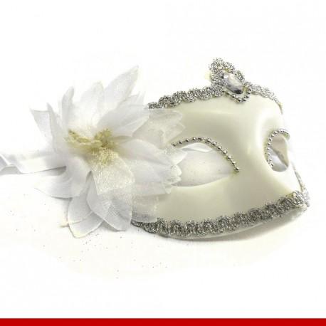 Máscara de carnaval a dama de branco - Artigos de carnaval