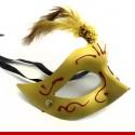 Máscara de carnaval com penas curtas - artigos para o carnaval