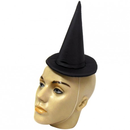 Mini chapéu de bruxa liso - Artigos de Halloween