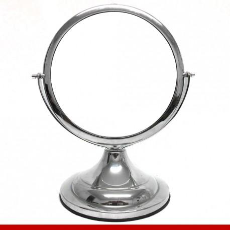 Espelho redondo em plástico metalizado grande
