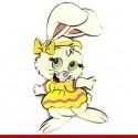 Coelha da páscoa em EVA - Decoração de páscoa