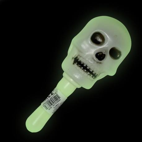 Maraca caveira neon - Artigos de Halloween