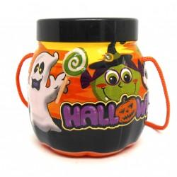 Pote mini abóbora com tampa - Artigos de halloween