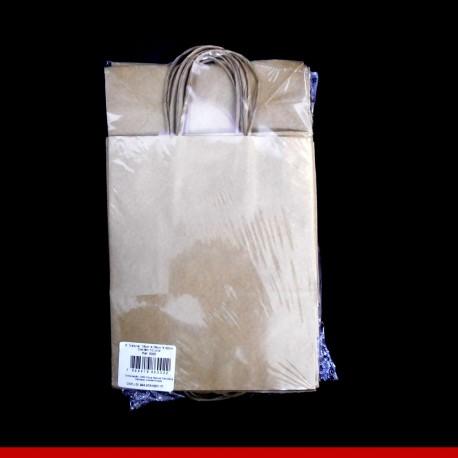 Sacola Kraft natural 18cm x 22cm - Pacote com 10 unidades