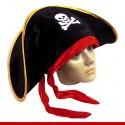 Chapéu pirata de luxo com laço - Artigos de Halloween
