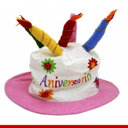 Chapéu bolo de aniversário - Artigos de carnaval
