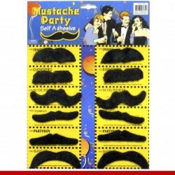 Cartela de bigodes - 12 peças