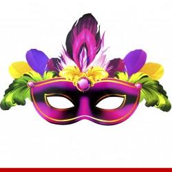 Máscara de carnaval para o rosto - 4 peças