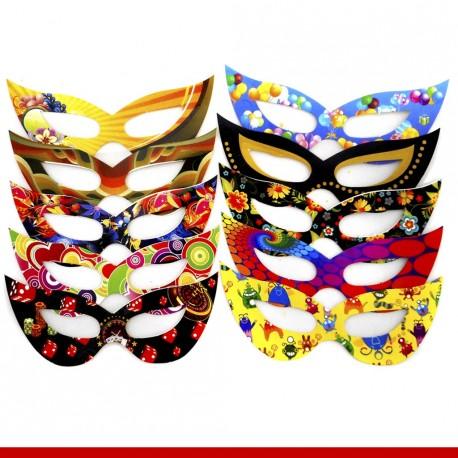 Máscara de carnaval gatinha - 10 unidades