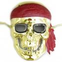 Máscara caveira pirata dourada - Produtos de carnaval