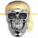 Máscara caveira pirata prata - Produtos de carnaval