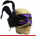 Máscara de carnaval aveludada - 1 peça