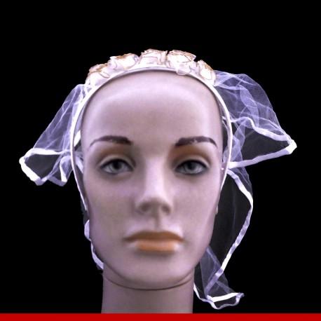 Tiara com véu - 1 peça