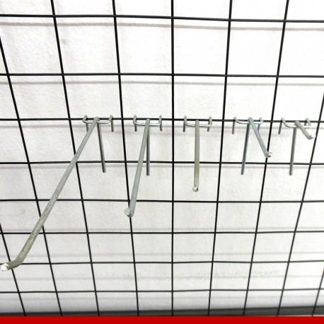 Gancho de metal para tela - 12 unidades