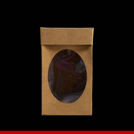 Caixa Kraft para ovo de páscoa com visor - 13 x 13 x 22 - Pacote com 10 unidades