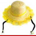 Chapéu de palha com trancinhas - Artigos de festa junina