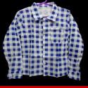 Camisa xadrez juvenil azul- Roupa junina