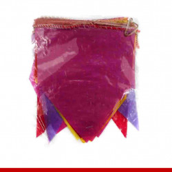 Bandeirinha para festa junina de plástico - 10 metros