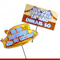Plaquinhas divertidas para festa junina - 10 unidades - Decoração junina
