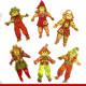 Espantalhos cartonados para festa junina - 6 unidades - Decoração junina