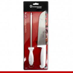 """Conjunto de faca e chaira 8"""" - 1 unidade"""