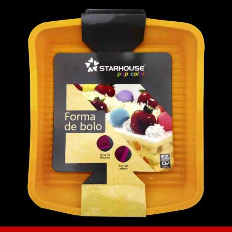 Forma de bolo quadrado em silicone - Utilidades Domésticas