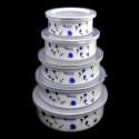 Jogo de potes de Ágata - 5 peças