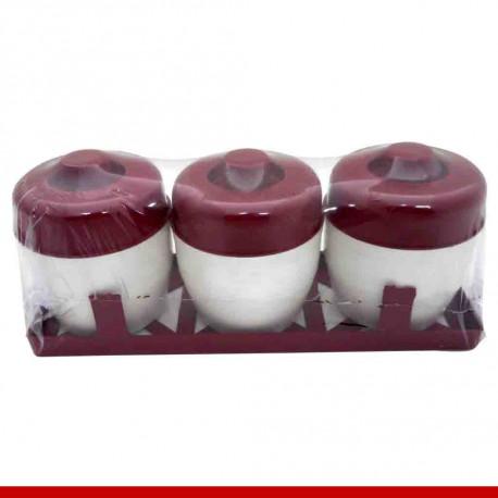 Porta condimentos 4 peças redondo - Produtos de cozinha