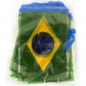 Bandeirola bandeira Brasil plástico - 5 metros