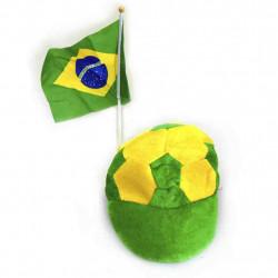 Boné Brasil com bandeira - artigo do Brasil