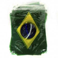 Bandeirola bandeira Brasil plástico - 10 metros