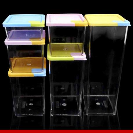 Potes container em acrílico 6 peças - Utensílios domésticos