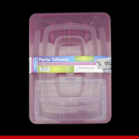 Porta talheres com divisória interna e tampa - Utensílios domésticos