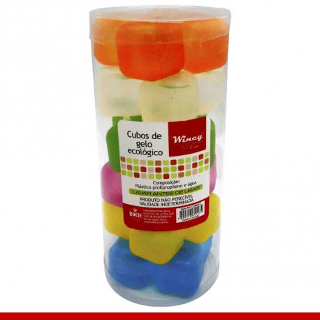Cubos de gelo ecológico - 24 peças - Utilidades domésticas