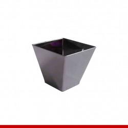 Mini cumbuca quadrada prata - Descartáveis de luxo