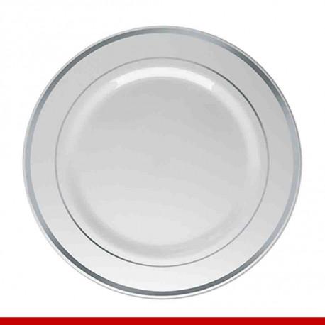 Prato de luxo descartável - 6 peças - Descartáveis de luxo