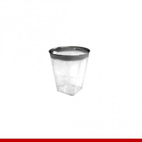 Mini copo descartável de luxo - 18 peças - Descartáveis de luxo