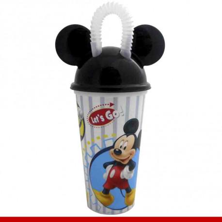 Copo Mickey Mouse com canudo - 1 peça - Utilidades domésticas