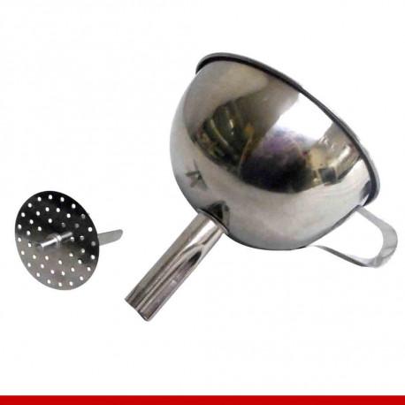 Funil com peneira em aço inox 11cm - Utilidades domésticas