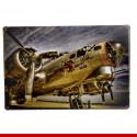 Placas decorativas em metal - Aeronaves e barcos