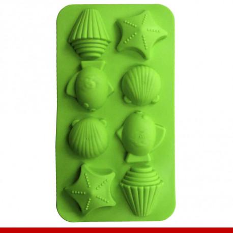 Formas de gelo em silicone, formatos diversos - Utilidades Domésticas