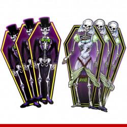 Noiva e noiva painel decorativo Halloween - Pacote com 6 unidades