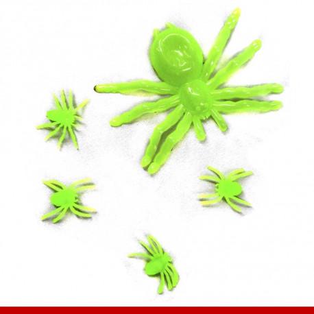 Kit aranha neon - Pacote com 5 unidades