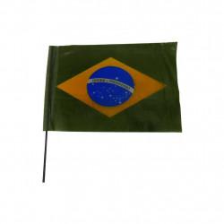 Bandeira do Brasil em plástico P - 10 unidades