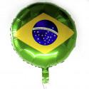 Balão metalizado Bandeira do Brasil Q Festa - Artigos do Brasil
