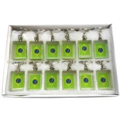 Chaveiro Brasil de vidro | Pacote com 12 unidades - Acessórios do Brasil